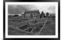 St Marys Priory, Framed Mounted Print