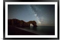 Durdle Door Milky Way , Framed Mounted Print