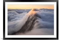 Suilven Sunrise Inversion, Framed Mounted Print