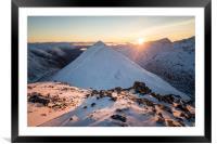 Buachaille Etive Beag - Stob Coire Raineach Sunset, Framed Mounted Print