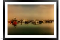 Boats At Poole Harbour, Framed Mounted Print