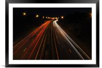 Light Trails, Framed Mounted Print