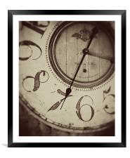 Old father time, Framed Mounted Print