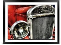 vintage fire engine, Framed Mounted Print