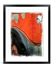not in service, Framed Mounted Print
