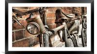 bikes and bricks, Framed Mounted Print
