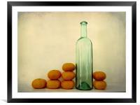 unbottled fruit, Framed Mounted Print