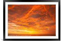 Sunset over the Pacific Ocean, Framed Mounted Print