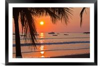Pacific Sunset, Framed Mounted Print