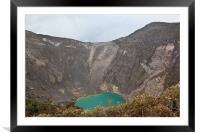 Volcan Irazu, Framed Mounted Print