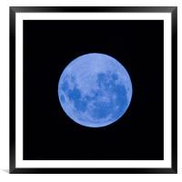 Blue moon, Framed Mounted Print
