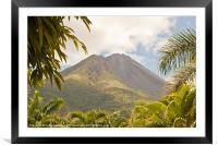 volcan Arenal Costa Rica, Framed Mounted Print