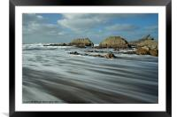 Blegberry beach Devon, Framed Mounted Print