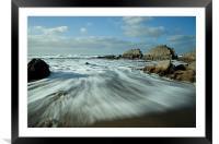 Blegberry beach Devon Part II, Framed Mounted Print
