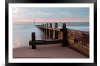 Dawlish Warren at Dawn, Framed Mounted Print