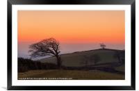 Raddon Sunset, Framed Mounted Print