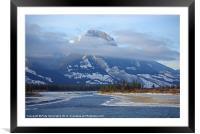 Rockies North of Jasper, Framed Mounted Print
