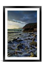 Salcombe Mouth Near Sidmouth, Framed Mounted Print