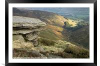 Edale View, Framed Mounted Print