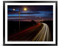Light trails, Framed Mounted Print