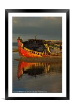 Fishing boat at Crow Point, Framed Mounted Print