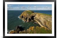 Ynys Lochtyn in Ceredigion, Framed Mounted Print