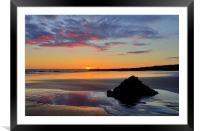 Sunset at Porthcawl, Framed Mounted Print
