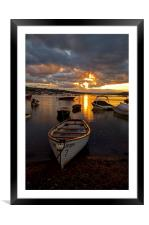 Sunset at Teignmouth, Framed Mounted Print