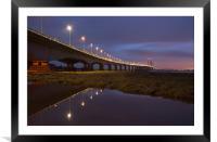 The New Severn Bridge, Framed Mounted Print