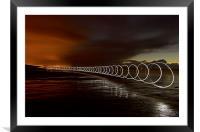 Light play on Saunton Sands, Framed Mounted Print