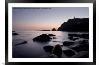 Cape Cornwall, Framed Mounted Print