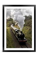 Kingswear to Paignton Train, Framed Mounted Print