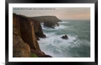 Lands End at dusk, Framed Mounted Print