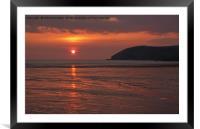 Croyde Beach in N Devon, Framed Mounted Print