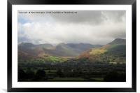 Grasmoor head in the clouds, Framed Mounted Print
