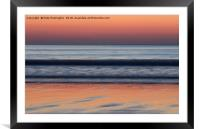 Sunset at Woolacombe, Framed Mounted Print