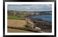 Wembury Bay in Devon, Framed Mounted Print