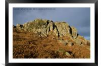 Greator Rocks on Dartmoor, Framed Mounted Print