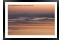 Exmouth beach at sunset, Framed Mounted Print