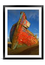 Abandoned Boat at Crow Point, Framed Mounted Print