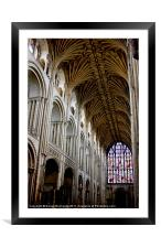 Illuminating Norwich Cathedral, Framed Mounted Print