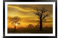 A Norfolk Sunrise, Framed Mounted Print