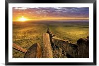 Peak District Sunrise. The path to Castleton., Framed Mounted Print