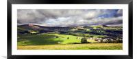 The Hope Valley Castleton, Framed Mounted Print