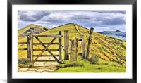 The Great Ridge Castleton In The Peak District., Framed Mounted Print