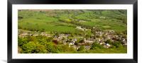 Castleton Derbyshire, Framed Mounted Print