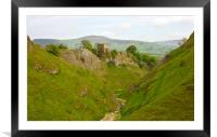 Cavedale walk at Castleton., Framed Mounted Print