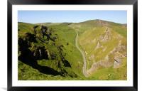 Winnats Pass Derbyshire., Framed Mounted Print