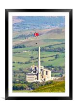Paragliding at Castleton, Framed Mounted Print