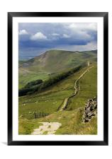 The Great Ridge, Hope Valley, Derbyshire., Framed Mounted Print